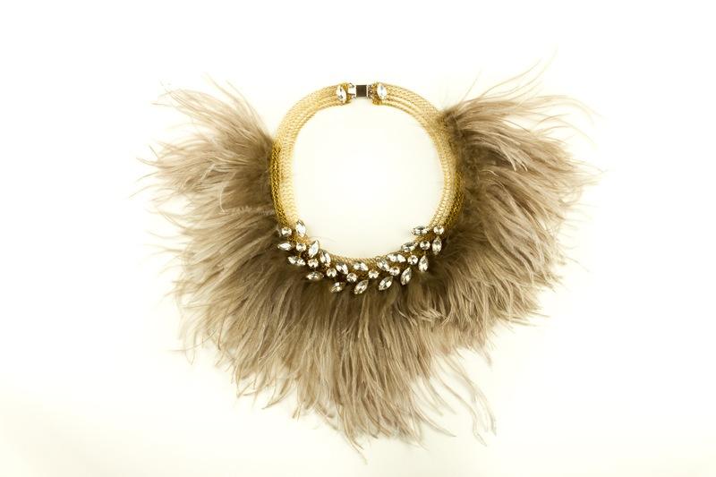 acquista lusso stili di grande varietà scegli ufficiale Girocollo con cristalli e piume